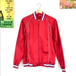 Vintage 70s satin bomber jacket retro track jacket